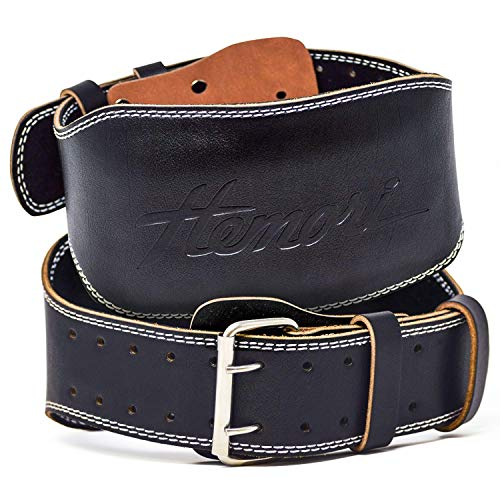 Hemori genuine cowhide leather pro weight lifting belt image