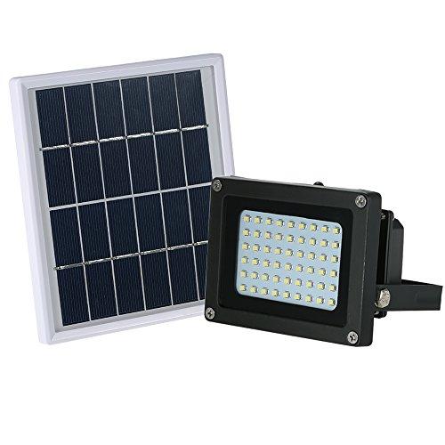 Galapara Proyector Alimentado por energía Solar, Foco Solar con Luz Cálida, 25W...