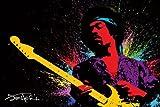Jimi Hendrix - Paint Kunstdruck