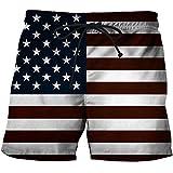 Pantalones Cortos de Playa de Verano Ropa de Playa para Hombres Pantalones Cortos Frescos con Estampado 3D Bañadores F XL