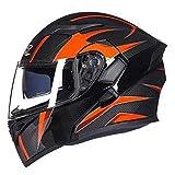 Cascos de moto modulares para mujer DOT Approved Winter Flip up Cascos de moto Dual Lens Motor Bike Scooter Helme