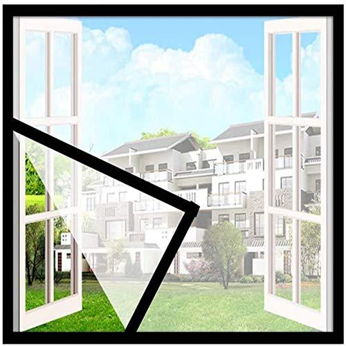 Ezoon Red protectora transparente para ventana de gato/gatito, antiescape, mosquitera autoadhesivo para ventana, malla para ajuste