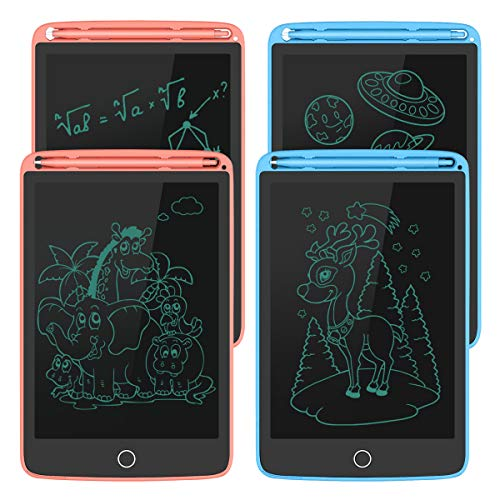 LCD Writing Tablet 8.5inch, Best Gift Electronic Drawing and Writing Board for Kids & Adults, Handwriting Paper Doodle (Blue+Blue+Pink+Pink, LCD)