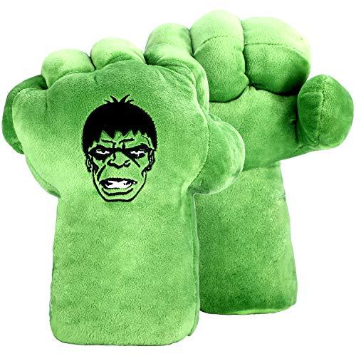 EQUASIS hulk gloves for kids Hulk Cosplay Costume Accessories, Hulk plush Toy (1 Pair)