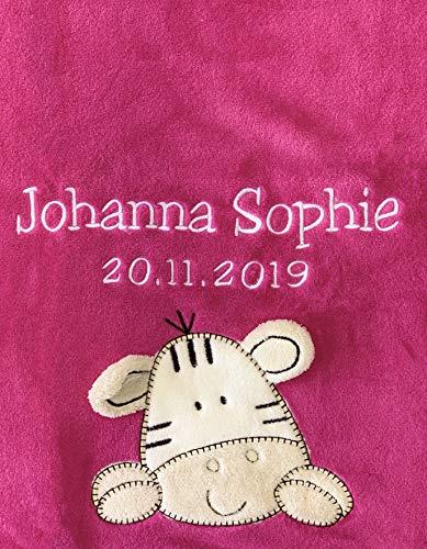 Baby manta bordada nombre fecha nacimiento, suave