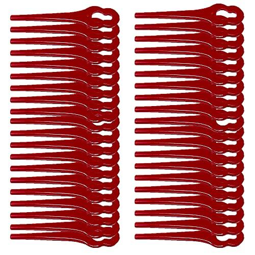 Nylonmesser Messer passend für Florabest FRTA PRTA 20 A1, FAT18 B2 B3 Rasentrimmer Motorsense Kantenschneider Sense Trimmermesser (40 Stück)