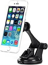 Premium Magnetic Car Mount Dash Windshield Holder Dock for iPhone 6 6S Plus, 5S 5C SE - Samsung Galaxy S7, S6, Edge, Edge+, S5, S4, Galaxy Note 5 4 3 2 - LG G2 G3 G4 G5 V10 - Motorola Droid Turbo 2