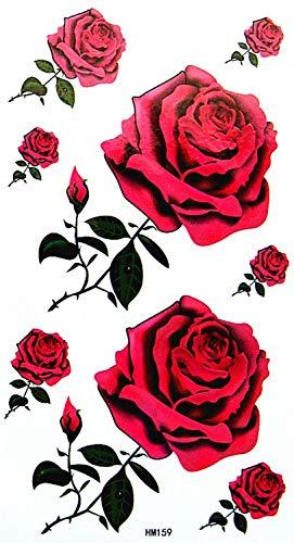 King Horse femme imperméable à l'eau et la sueur, de la mode, les tatouages sexy roses rouges