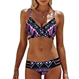 Bikinis Mujer,Dragon868 2020 Bohemia de Las Mujeres Empujar hasta Bra Playa Usar Bikinis para jovencitas (M, Rosa Caliente)