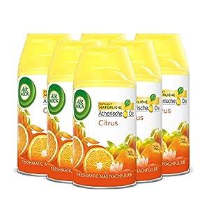 Air Wick Freshmatic Max Raumspray – Nachfüller für den Air Wick Freshmatic Max – Duft: Citrus – 6 x 250 ml Nachfüller 8