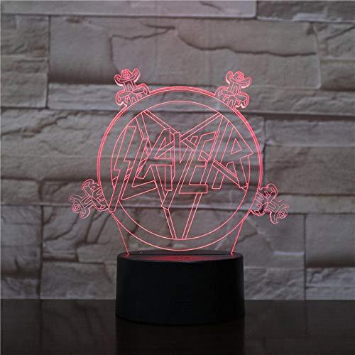 HUUDNHYK 3d led night light usb touch sensor decorazione lampadario camera da letto luce kid bambino bambino kit luce notturna lampada da tavolo camera da letto