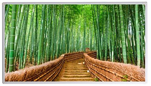 Bildheizung Infrarotheizung mit Digitalthermostat - 5 Jahre Herstellergarantie - - Heizt nach dem Prinzip der Sonne(Japan Bamboo,600)