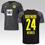 TSH7NDF Dortmund Erwachsene Trikot Away 2021/22, Größe:L, Spielername:24 Meunier