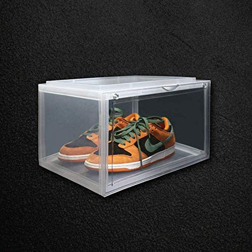 shoe display plastic shoe box shoe case side open shoe boxes extra thick shoe boxes clear plastic product image