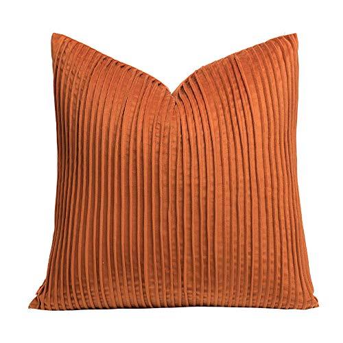 Nuobaby sierkussen kussensloop lendenkussen effen 50 x 50 cm zonder kussenkern oranje rood