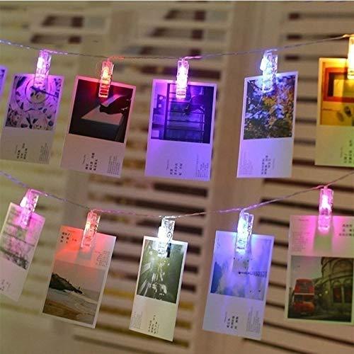 LED photo chaîne de lumière clip applique murale LED chaîne guirlande de noce ligne décoration photo lumière batterie multicolore 3m30 leds