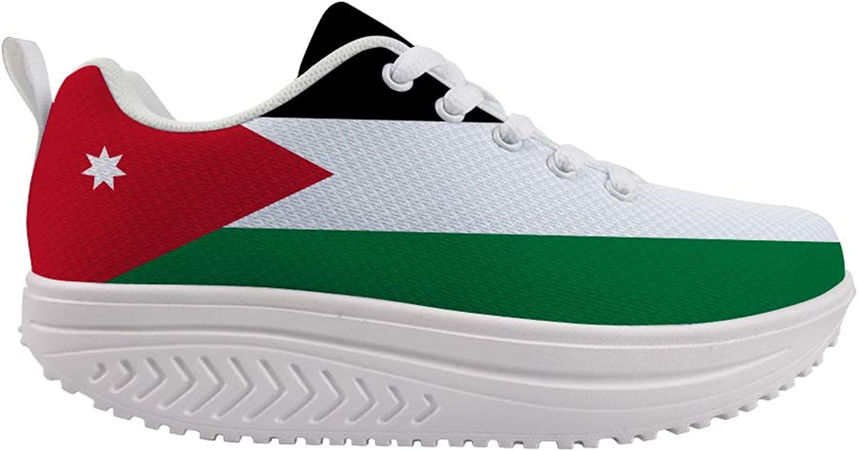 Owaheson Swing Platform Toning Fitness Casual Walking shoes Wedge Sneaker Women Jordan Flag