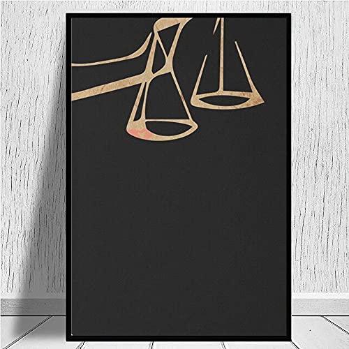 DFRES Legge Studi Poster Legge Avvocato Parete Arte Giudice Stato Esame Dipinti Tela Stampe Soggiorno Stanza Avvocato Ufficio Parete Decorazioni Quadro 40x60 Cm No Cornice