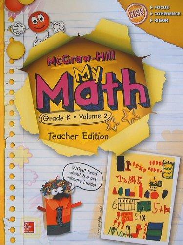 Mcgraw Hill My Math Grade K Volume 2 Teacher Edition Ccss Common Core