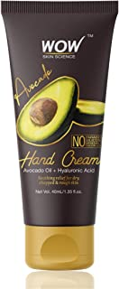 WOW Skin Science Avocado Gentle Hand Cream With Avocado Oil + Hyaluronic Acid - No Parabens, Silicones, Mineral Oil, Color & Pg, 40 ml