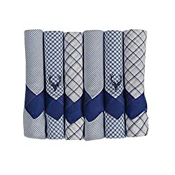 Allen Solly Mens Cotton Handkerchief (Pack of 6)