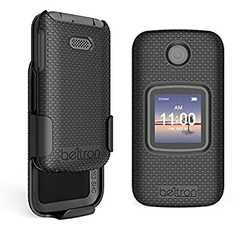 Case with Belt Clip for Alcatel Smartflip/Alcatel Go Flip 3 Protective Snap On Cover with Rotating Belt Clip Holster Combo for Smartflip  AT&T Cricket Wireless  Go Flip 3  Metro PCS T-Mobile