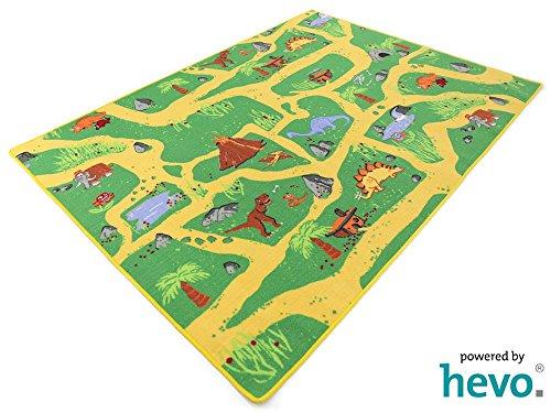 HEVO Dinosaurier Teppich   Spielteppich   Kinderteppich 135x200 cm Oeko-Tex 100