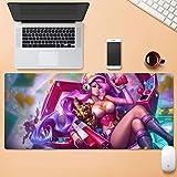 GR5AS Miss Fortune The Bounty Hunter juego video diosa alfombrilla de ratón Gaming League of Legends PC gran mesa Mat Tamaño sentirse cómodo bloqueo de pista de deslizamiento del teclado del ordenador