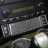 Para Chevrolet Corvette C6 2005 2006 2007 Solo izquierda caja de Panel de ajuste de marco de manija copiloto botón de calefacción de asiento parte interior pegatina de fibra de carbono (kit)