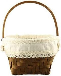 ZXY-NAN Aufbewahrungsbox Vintage Woven Basket Bread Basket Wood Basket Kitchen Fruit Basket Vegetable Storage Basket, Picture Color Storage Chests Furniture