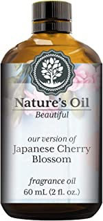 Japanese Cherry Blossom Fragrance Oil (60ml) For Perfume, Diffusers, Soap Making, Candles, Lotion, Home Scents, Linen Spray, Bath Bombs, Slime