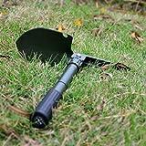 ELECTROPRIME 24AB Shovel Outdoor Army Green Folding Shovel Camping Spade Foldable