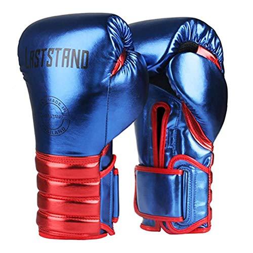 Sports Boksen Handschoenen Microfiber Bokshandschoenen MMA Gym Boksen Uitrustingen Martial Arts Training Gloves,Blue,6oz