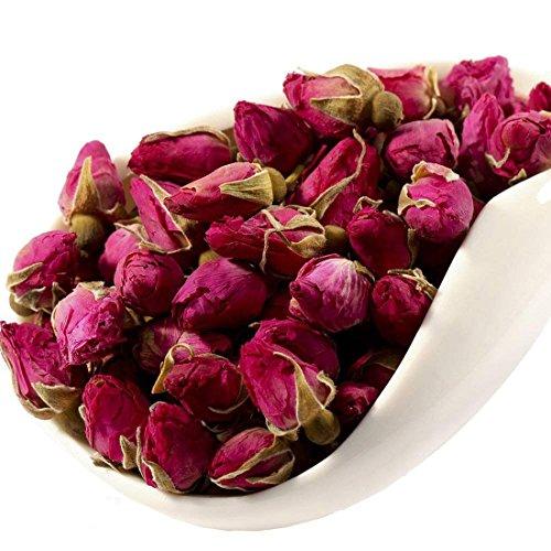 MQUPIN Rosenknospentee Getrocknete rote Rosenblüte Essbare Knospen Detox Tee -3Pack / 250g
