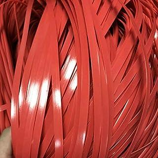 Rotin synthétique plat de tissage de rotin 500g rotin en plastique matériel pour le rouge de rotin de tricot