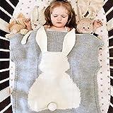 Tiny Alpaca Manta de punto para bebé, diseño de animales, manta de ganchillo...