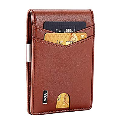 WXM Money Clip Wallet- Mens Wallets slim Front ...