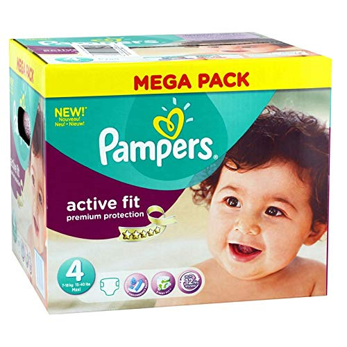 Couches Pampers - Taille 4 active fit premium protection - 168 couches bébé