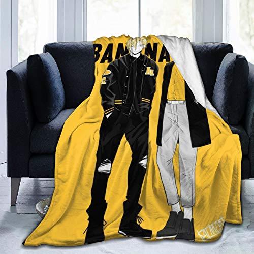 N-A Goldeply Decke mit Bananenfisch, Esche, Luchs, Eiji Okumura, ultraweich, Micro-Fleece, Überwurf, super weich, für...