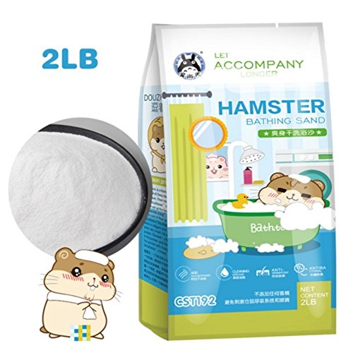 Hamster Bathing Sand,Gerbil Powder Grooming Sand for Tiny Friends Farm Chinchilla Dust Bath Potty Litter Sand (2LB) (Hamster Sand) (Hamster Bath Sand Dust(B))