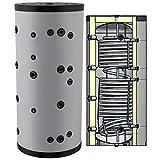 Hygienespeicher, Boiler mit Edelstahlwellrohr zur legionellenfreien Trinkwasseraufbereitung ohne oder mit 1 oder 2 zusätzlichen Wärmetauschern, Pufferspeicher, Trinkwasserspeicher 500 750 1000 Liter