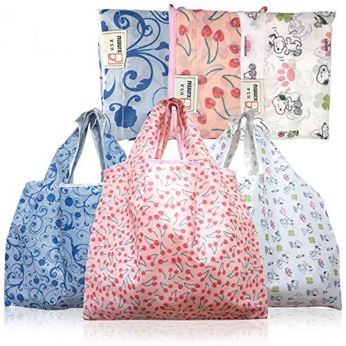Einkaufstaschen, wiederverwendbar, faltbar, 3 Stück, XXL, 22,7 kg, waschbar, langlebig und leicht (MIX#2)