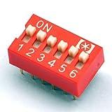 Electronics-Salon 10pcs 6 Way Interrupteur DIP, 6 Position 12 broches PCB Montage