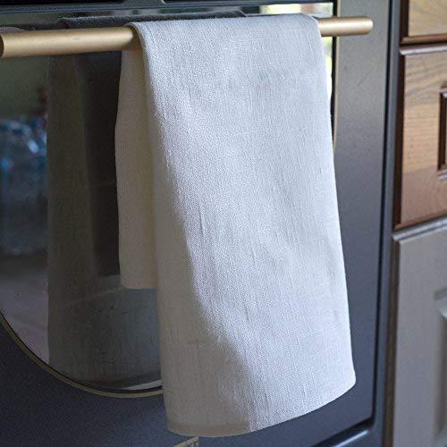 2-er Pack Leinen Geschirrtücher - Küchentücher - 100% Leinen - 50 x 70 cm - Weiß