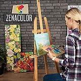 Zenacolor 5-TLG. Set Keilrahmen 20x20cm - Leinwand Malen - Painting Canvas zum Aquarellfarbe Ölfarbe Acrylfarbe malen - Leinwand auf Keilrahmen aus Holz 100% Säurefreie Baumwolle Leinwand Weiss - 2