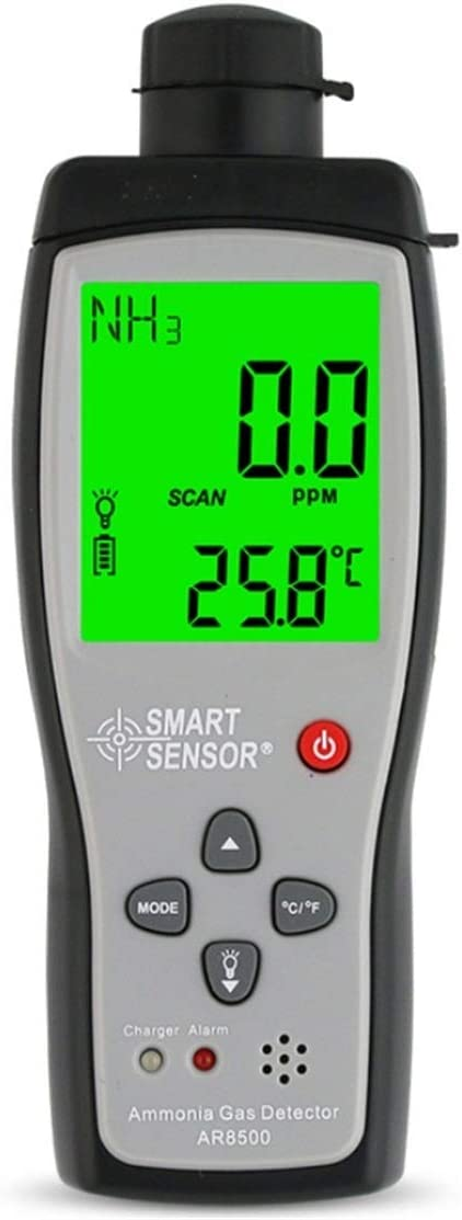 OFFicial store Portable Ammonia Gas Detector Rechargeabl 0~100ppm Backlight Manufacturer regenerated product LCD