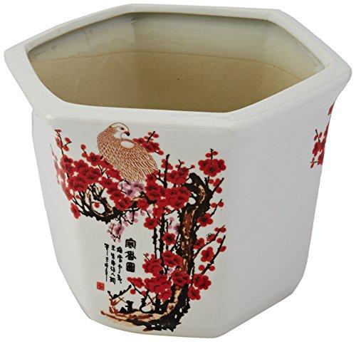 Oriental Furniture 10' Cherry Blossom Porcelain Flower Pot