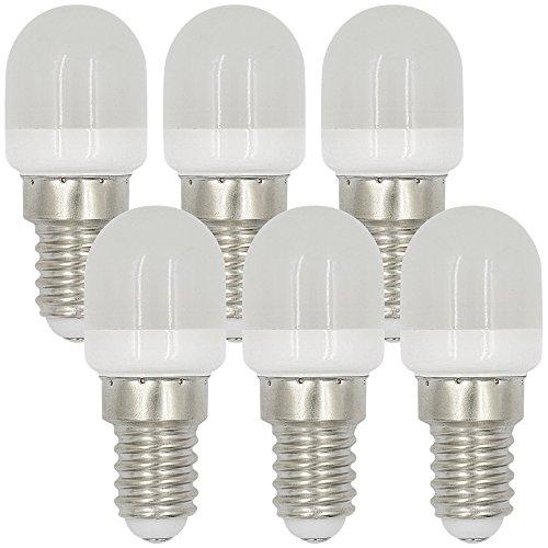 MENGS 6 Stück E14 2W LED Kühlschrank Birne Lampe AC 220-240V Warmweiß 3000K 8x2835 SMD Mit PC Mantel