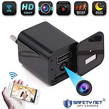 CAM 360 Spy Camera Hidden Wireless Mini WiFi USB Wall Charger Camera with Remote View HD 1080P Video Audio Secret Recording with Loop and Motion Detection Spy IP Cam for Nanny, Home, Office, Shop