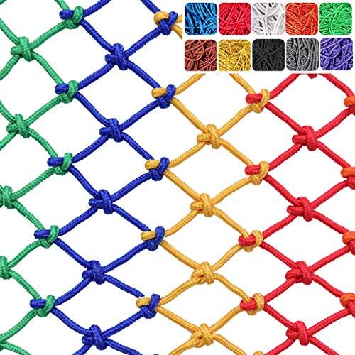 Buy Children Safety Protection Rope Netting - Children's Anti-Fall Fence Net Color Decorative Fence ...